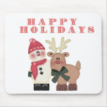 Snowman and Reindeer Mouse Mats