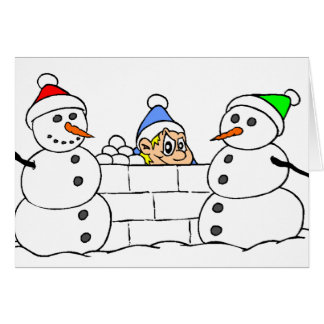 Snowman and Sneaky Boy Card