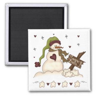 Snowman and Snowballs Magnet