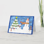 Snowman and Snowdog Holiday Card