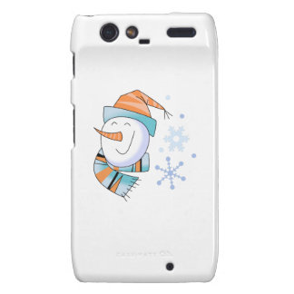 Snowman and Snowflakes Motorola Droid RAZR Case