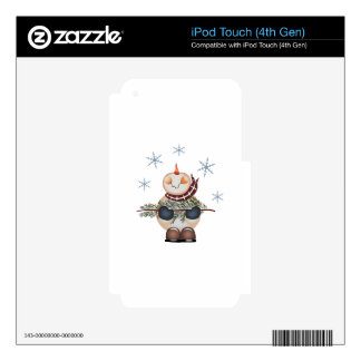 SNOWMAN AND SNOWFLAKES iPod TOUCH 4G SKIN