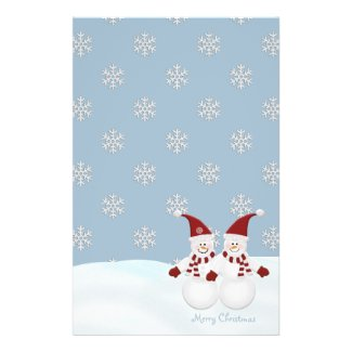 Snowman and Snowflakes Stationary