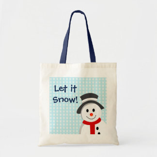 Snowman and Snowflakes Tote Bag