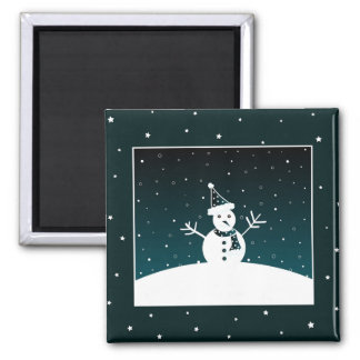 Snowman and stars - Magnet