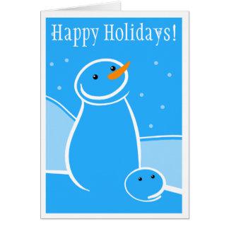 Snowman and Steve Sketch Card