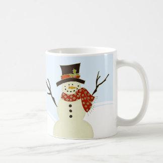 Snowman and Tree Christmas Mug
