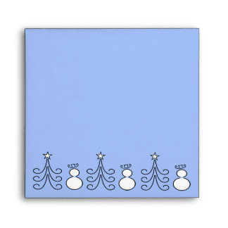 Snowman And Tree Envelope