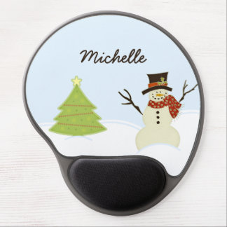 Snowman and Tree Gel Mouse Pad