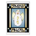 Snowman Angel #1 Notecard Card