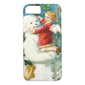 Snowman Angel Cherub Four Leaf Clover iPhone 7 Case