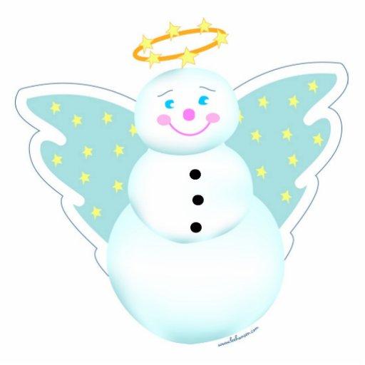 Snowman Angel Ornament Photo Cut Out