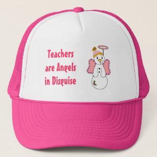 Snowman Angel with Teacher Saying Trucker Hat