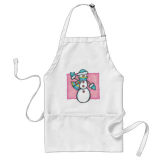 snowman adult apron