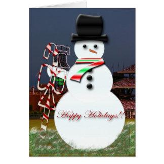 Snowman at the Ballpark Card