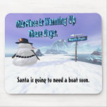 Snowman At The North Pole. Mouse Mats