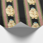 Snowman Babies Victorian Christmas Wrapping Paper