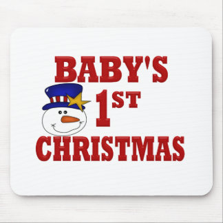 Snowman Baby's 1ST Christmas Mouse Pad