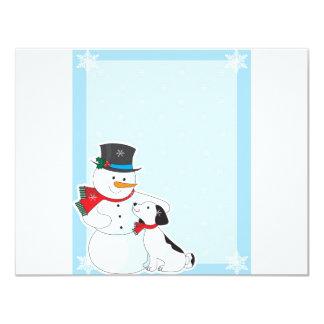 Snowman Background 4.25x5.5 Paper Invitation Card