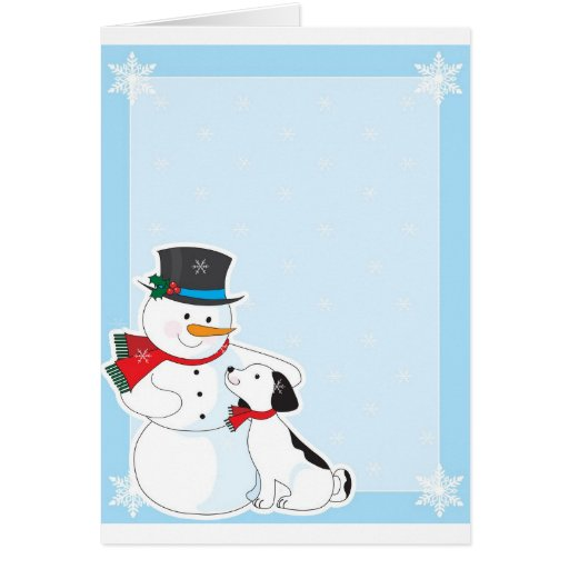 Snowman Background Greeting Card