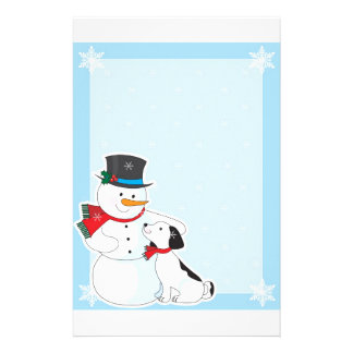 Snowman Background Stationery