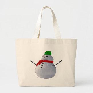 Snowman Canvas Bags
