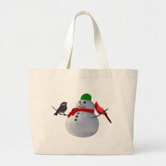 Snowman Canvas Bag
