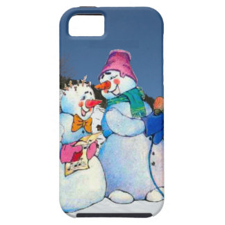 Snowman band singing on the hillside case for iPhone 5/5S