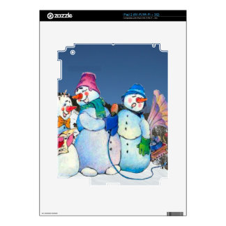 Snowman band singing on the hillside skins for iPad 2