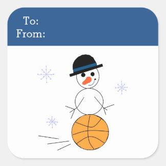 Snowman Basketball Gift Tag