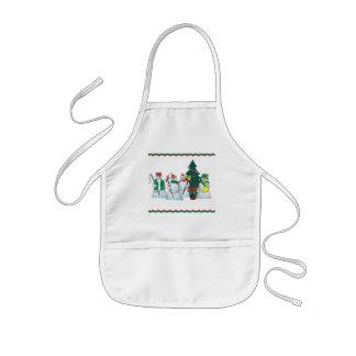 snowman bib kids' apron