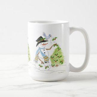 Snowman Bird Mug