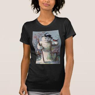 Snowman Bird Winter Snow Songbird Shirt