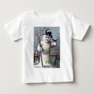 Snowman Bird Winter Snow Songbird T-shirt