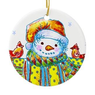 Snowman Birdman ornament