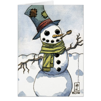 Snowman - Blank Greeting Card