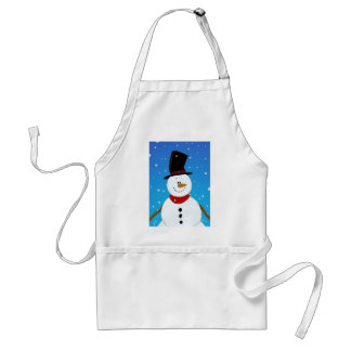 Snowman - Blue Adult Apron