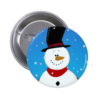 Snowman - Blue Button