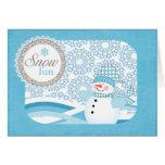 snowman blue card