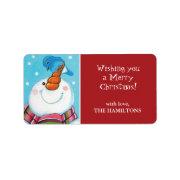 Christmas Snowman Gift Tag