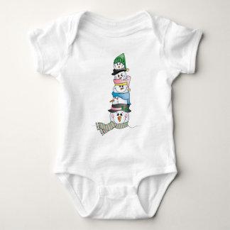 Snowman/ Bonhomme de Neige Baby Bodysuit