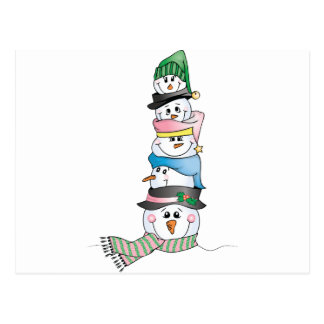 Snowman/ Bonhomme de Neige Postcard