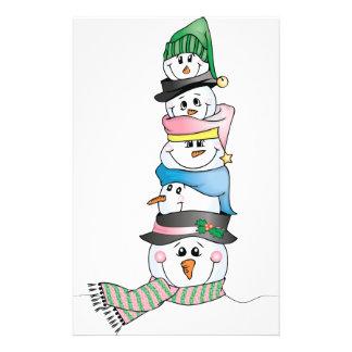 Snowman/ Bonhomme de Neige Stationery
