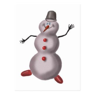snowman boogie postcard