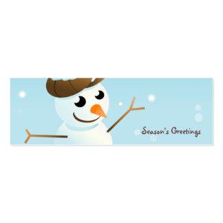 Snowman Bookmark Business Card Template