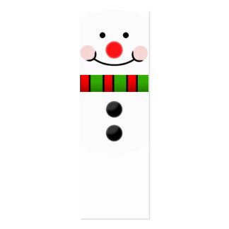 Snowman Bookmark Double-Sided Mini Business Cards (Pack Of 20)