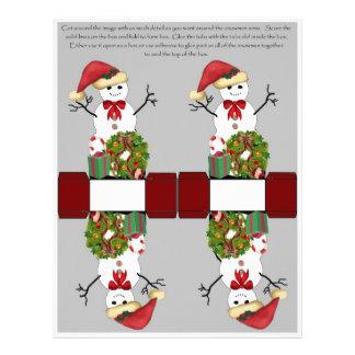 Snowman Box Full Color Flyer