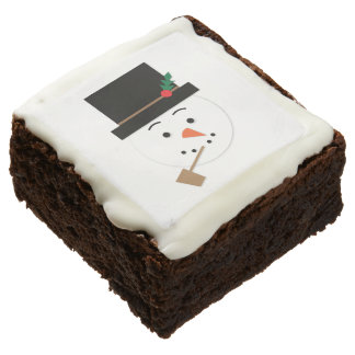 Snowman Brownie Christmas Treat Party Favor