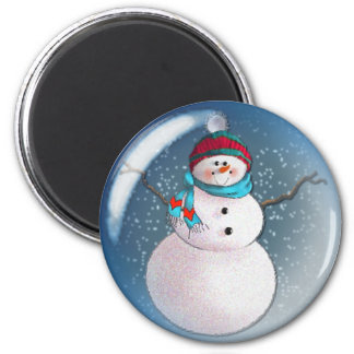 SNOWMAN BUBBLE 3 by SHARON SHARPE Magnets