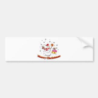 Snowman Car Bumper Sticker